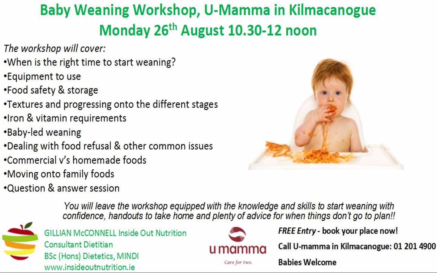 Weaning Workshop Poster