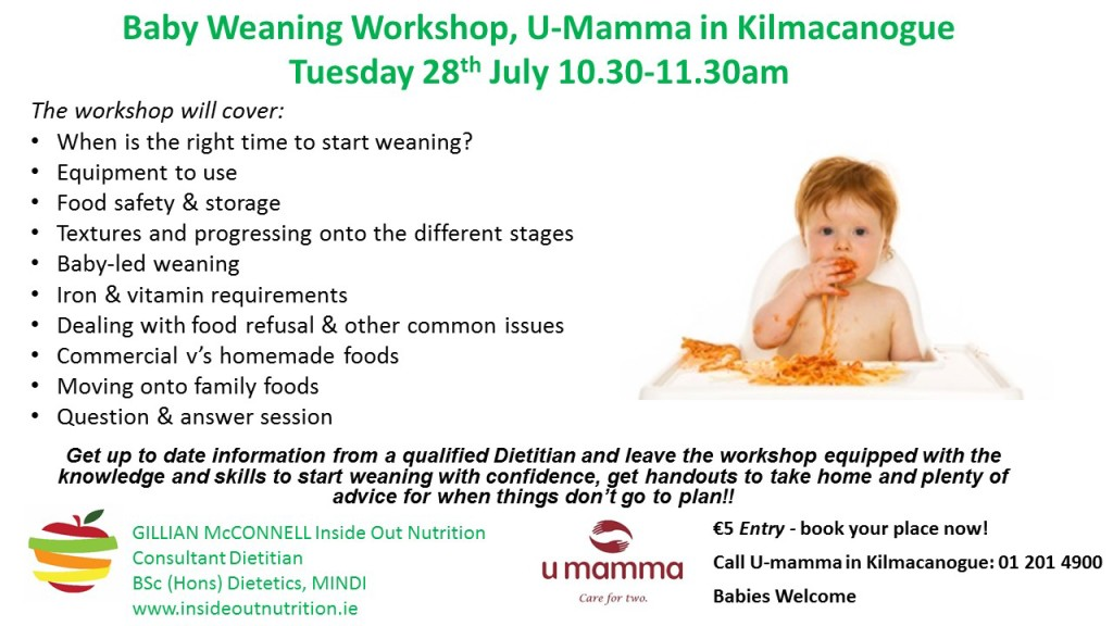 U-Mamma Weaning Workshop Poster July 2015