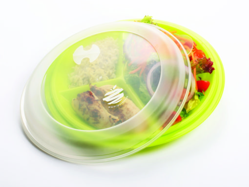 iPortion plastic Plate With Lid