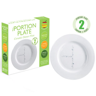 iPortion Plate ceramic dinner plate