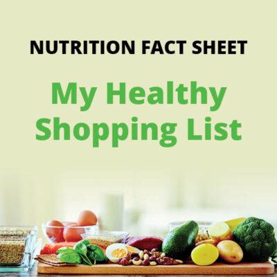 My Healthy Shopping List